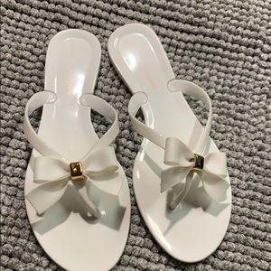 White Bow Sandals Too Cute